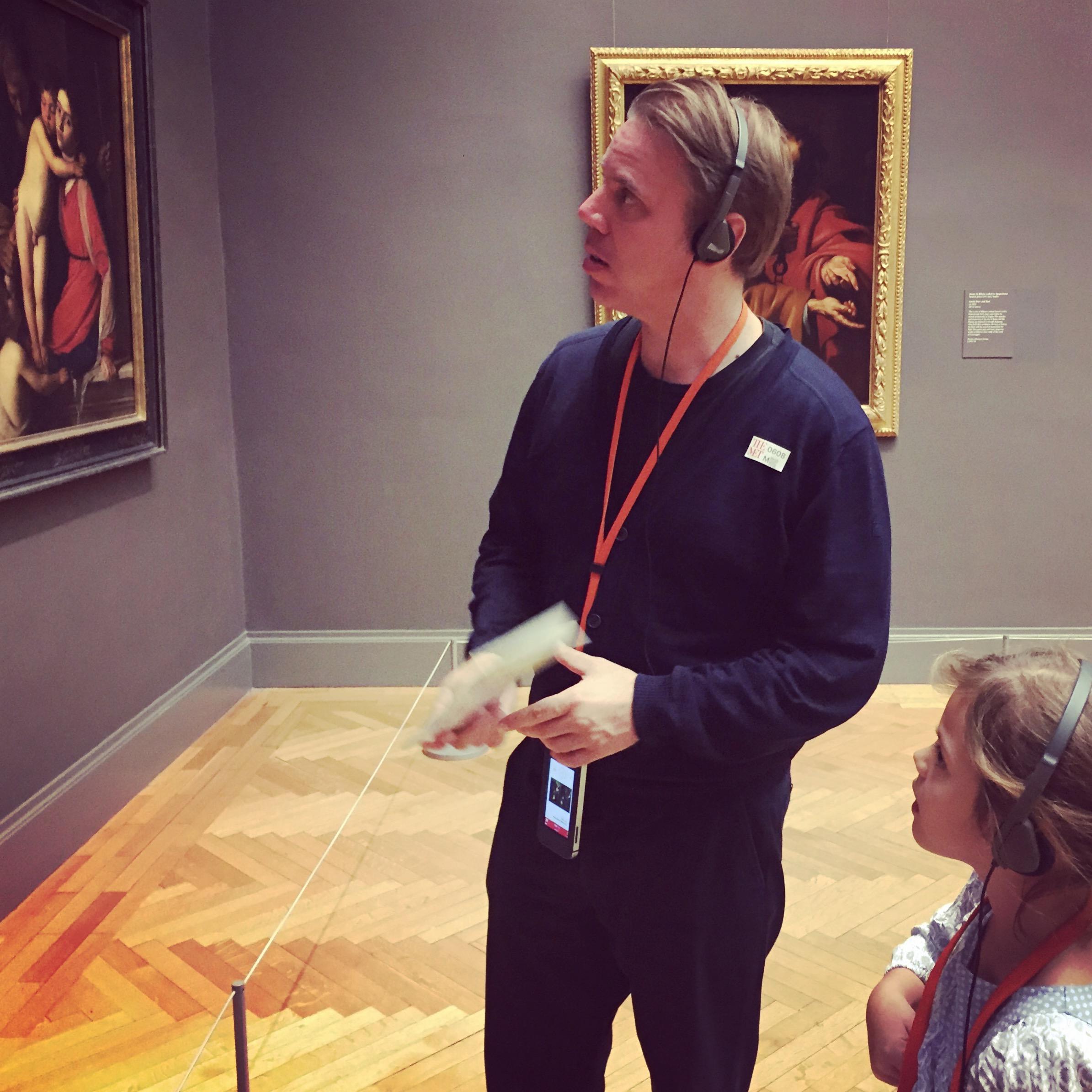 Vater und Tochter im Museum MET, Metropolitan Museum of Art, New York City
