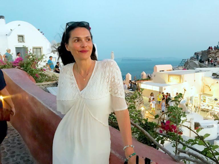 Reisen, Santorini, Frau, Träumen, Sommerliebe, Griechenland