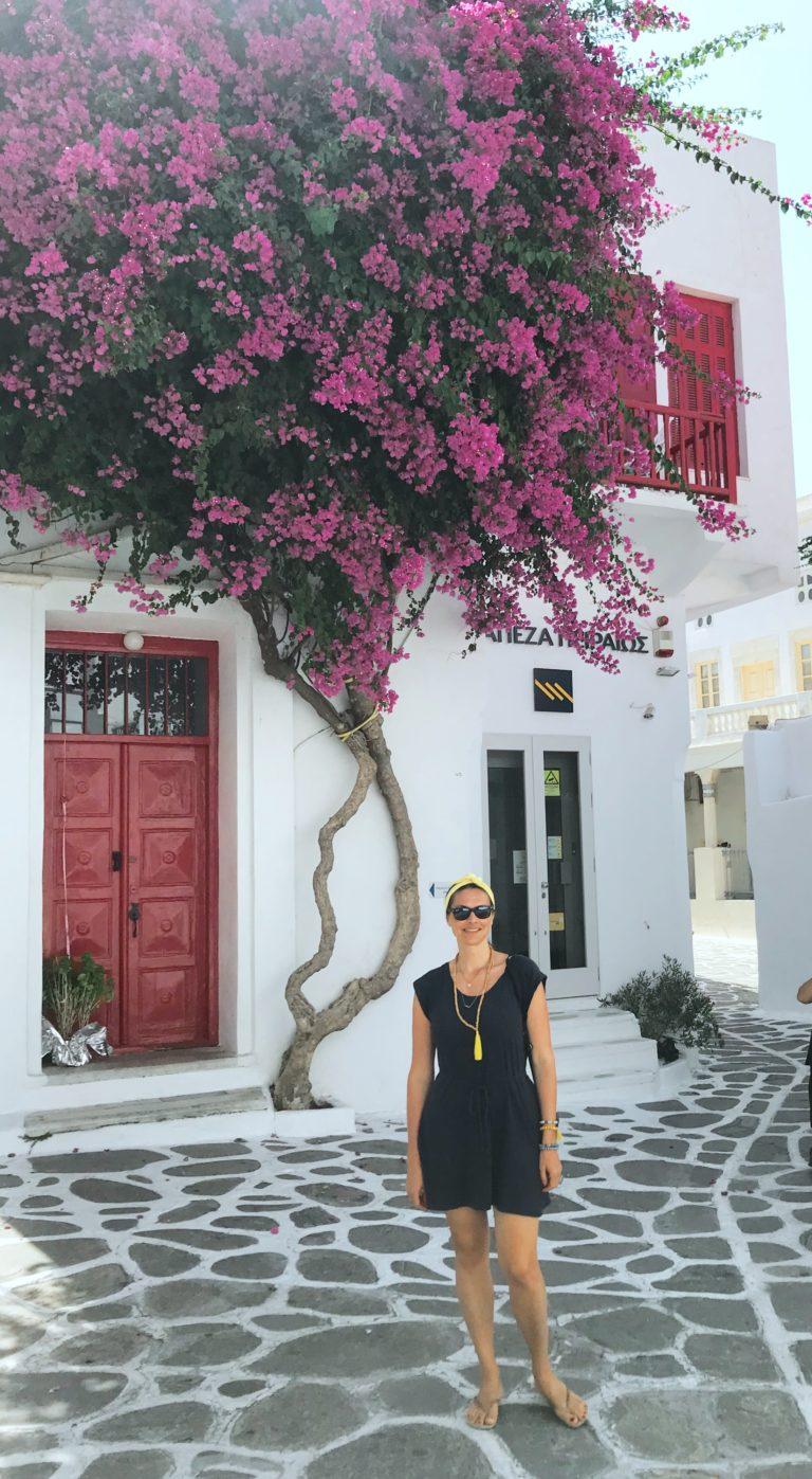 Milica auf Mykonos, Griechenland